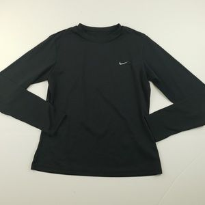 Nike boys solid black embroidered logo long sleeve